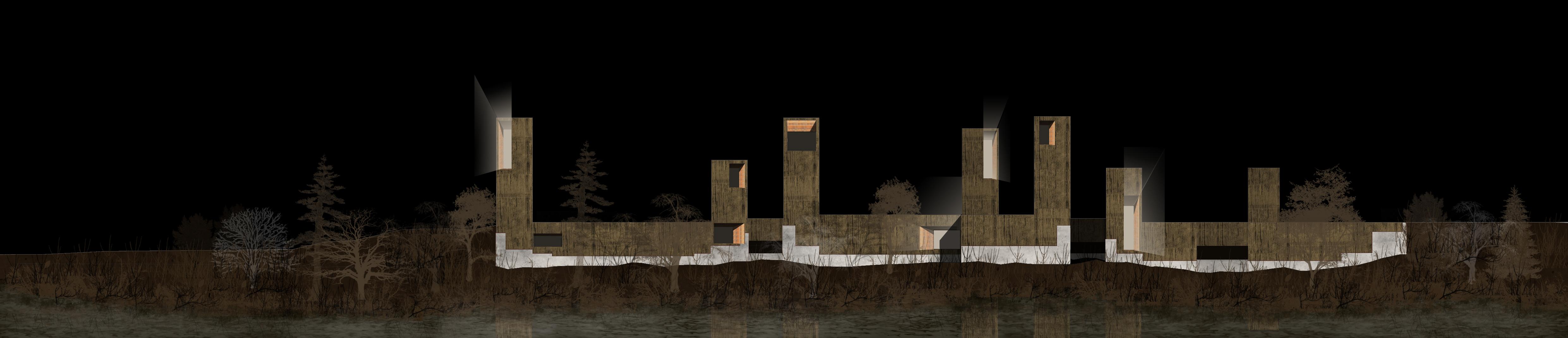 Alzado nocturno blogarq - Alzado arquitectura ...